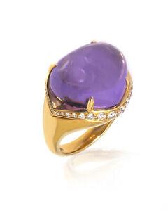 Bvlgari Mediterranean Eden Diamond 0.792ct Amethyst Ring Sz 7.5 AN855893-346357