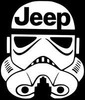 JEEP STORM TROOPER Decal Car Truck Window Vinyl  Sticker (10 COLORS) Star Wars