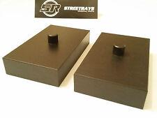 """StreetRays 05-17 F250 F350 SD SuperDuty 1"""" Rear Lift Blocks Kit 2WD & 4WD BLACK"""