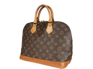 LOUIS VUITTON Alma Monogram Canvas Leather Hand Bag LH3882