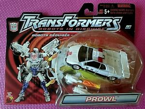 Transformers Robots in Disguise R.I.D. 2001 PROWL Deluxe White WORLDWIDE RID NIB