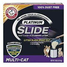 New listing Arm & Hammer Platinum Slide Easy Clean-Up Clumping Cat Litter