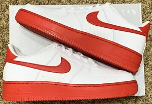 Nike Air Force 1 Low 'White University Red' Size 6Y Womens Size 7.5 | CV7663-102