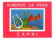 LUGGAGE LABEL ITALY CAPRI ALBERGO LA VEGA HOTEL