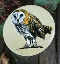 More details for vintage h & r johnson round owl tile 15.2cm diameter vgc