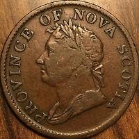1832 NOVA SCOTIA HALF PENNY TOKEN COIN