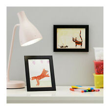 "IKEA 2 Picture Frames FISKBO 5""x7"" Black Wood Frame NEW Free Shipping"