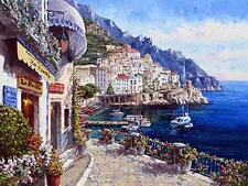 """""""AMALFI AFTERNOON"""" by SAM PARK!  L/E GICLEE ON CANVAS! 18 x 24! PERFECT!"""