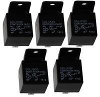 5x Relais SPDT 12V 40A/30A 5 pin broches électromagnétique pour auto voiture