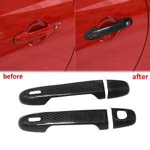 For Toyota GT86 Scion FR-S Subaru BRZ Real Carbon Fiber Door Handle Cover Trim