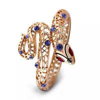 Designer Rose Gold Plated Shiny Purple Snake Bangle Made With Swarovski Crystals