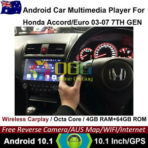 "10.1"" Android 10.1 Octa Core Car gps For Honda Accord/Euro 03-07 apple carplay"