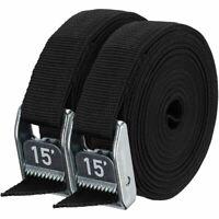 "NRS 1"" HD Tie-Down Straps - Stealth Black - 15' Pair"
