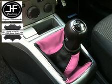 NERO Rosa si adatta a Opel Vauxhall Astra H Mk5 Mkv STICK GEAR Ghetta in pelle