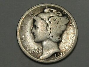 Key-Date 1921 US Mercury Dime. #16