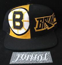 VTG BOSTON BRUINS SNAPBACK AMERICAN NEEDLE NHL HOCKEY BLACK HAT CAP RARE SNAP
