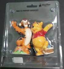 Disney Park Winnie The Pooh And Tigger Salt And Pepper Shakers Yellow & Orange