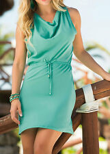 Mapalé by Espiral AM:PM Women's Draped Neckline Turquoise Dress  - Small
