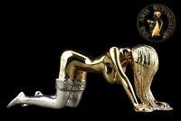 Bronze Skulptur Figur Devote Lady Akt Erotik Woman Girl Sexy Frau Girl Sex