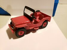 Vintage Dinky Toys Meccano LTD Red Willys Universal Civilian Jeep VG