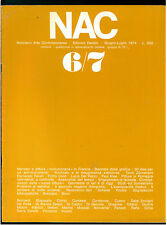 NAC ARTE CONTEMPORANEA GIUGNO LUGLIO 1974 N. 6/7 BIENNALE GRAFICA SURREALISMO