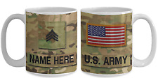 US Army Personalized Mug - SGT (E5) US Army Gift for Dad/Mom/Son/Daughter