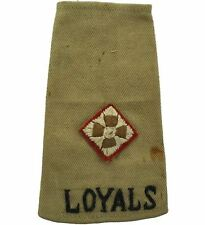 WW2 Loyal North Lancashire Regiment Officer Slip-On Epaulette Insignia Rank JA65