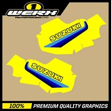 SUZUKI RM 125 1981 - 1983 TANK GRAPHICS EVO MX DECALS STICKERS OEM 1982