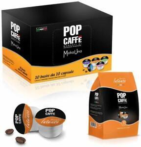 200 Capsule Pop Caffè Compatibile Uno System Espresso Moka Uno 1 Intenso