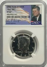 1976-S SILVER KENNEDY HALF DOLLAR NGC MS66 CERTIFIED KENNEDY PORTRAIT LABEL