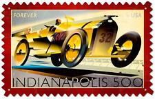 Us Postage Stamp Indianapolis 500 Race Metal Sign Man Cave Garage Shop Usps001