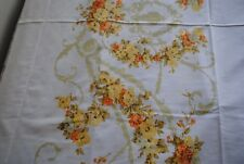 Vintage Floral Double Flat Bed Sheet Pillow Case(2) USA Utica Percale