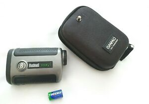 Bushnell Tour V2 Laser Rangefinder In Black and Silver with Protective Case