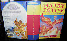 Harry Potter and the Order of the Phoenix, J.K Rowling, 2003, HB. Blooms 1st ed