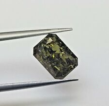 """2.75ct Natural Loose Fancy Green Color Diamond GIA Certified Radiant """"CHAMELEON"""""""