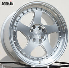 AODHAN AH01 17x9 4x100/4x114.3 +25 Silver w' Machined Face and Lip (PAIR) wheels