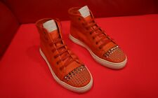$729.00 !! GUCCI WOMEN'S ORANGE  ICONIC LUXURY  HI TOP SNEAKERS  SHOES SIZE 35 G