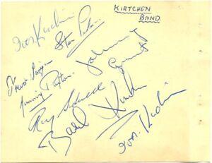 The Kirchin Band signed autograph album page 1950s jazz band Ivor Basil Kirchin