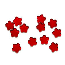 40 x Red Glass Flower Decorative Pieces for crafts & decoration