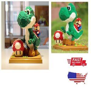Super Mario Yoshi Scenes Building Blocks Diamond Micro Bricks Adult Kids Toys