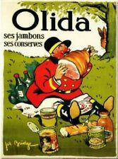 FRENCH VINTAGE POSTER 50x70cm RETRO AD OLIDA CANNED HAM