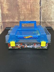 Hot Wheels Race Carry Case Dual Car Launchers CFC81 2015 Plastic 8in×5in×3.25in