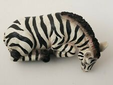Sitting Shelf Zebra Art Plaster Molded Hand Painted