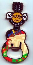 Hard Rock Cafe BUCHAREST 2011 Bottle Opener Guitar Magnet - RARE !!!
