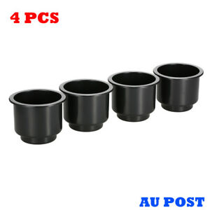 4X Recessed Drop In Plastic Cup Drink Holder For Boat Car Marine Universal