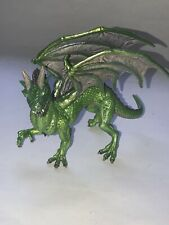 SAFARI LTD 2010 PVC FOREST DRAGON FIGURE Fantasy PVC EUC GREEN Figurine
