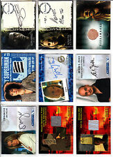 TRADING CARDS:Planche N° 26     COSTUMES,AUTOGRAPHS  divers