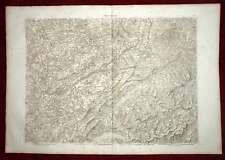 FRANCHE COMTE BESANCON LAC LEMAN Carte géographique 19e