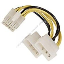 """6""""Server Motherboard 8pin EPS12V~Dual Molex 4pin Power Supply Adapter Cable/Wire"""