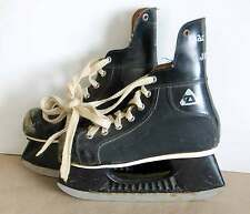 Ice Skates Boy's Youth Vintage Hockey Black Leather Canvas Free Sh